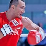 Боксеры Кличко и Фьюри провели открытую тренировку