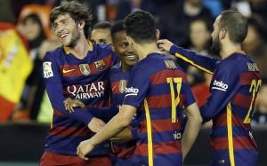 «Барселона» сыграла вничью с «Валенсией» и вышла в финал Кубка Испании по футболу