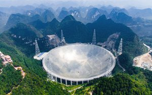 В Китае открыли для туристов крупнейший в мире радиотелескоп