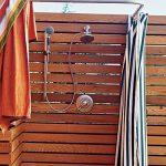 Строительство летнего душа с подогревом воды