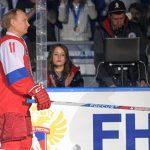Путин вышел на лед в рамках матча Ночной хоккейной лиги