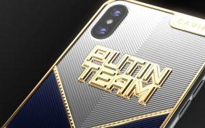 Caviar разработал дизайн iPhone X в поддержку Putin Team