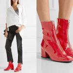 Красная лаковая обувь - модный выбор для стильных женщин