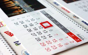 Почему пора заказать квартальные календари?