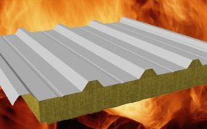 Огнестойкие металлические сэндвич-панели с минеральной ватой