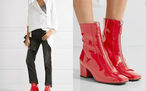 Красная лаковая обувь — модный выбор для стильных женщин