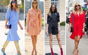 Как правильно носить платье-рубашку?