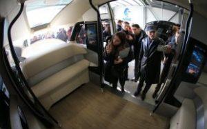 Беспилотный автобус вышел в первый рейс