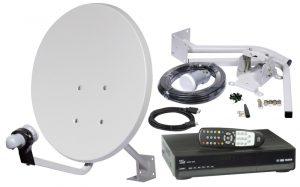 Установка спутникового оборудования НТВ плюс в коттедже