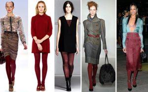 Цветные колготки: с чем носить