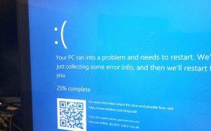 Обновление Windows 10 привело к «синему экрану смерти»