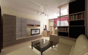 Дизайн зала для однокомнатной квартиры