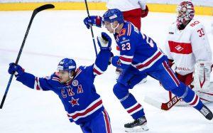 СКА победил «Спартак» в матче КХЛ и выиграл дивизион Боброва