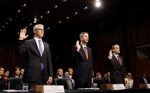 Главы Twitter, Facebook и Google выступят на слушаниях в Конгрессе
