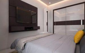 Идеи размещения телевизора в спальне