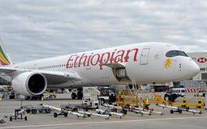 В московском аэропорту Домодедово приземлился новый Airbus A350 «Эфиопских авиалиний»