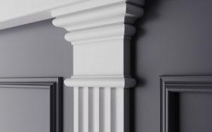 Использование колонн из гипса